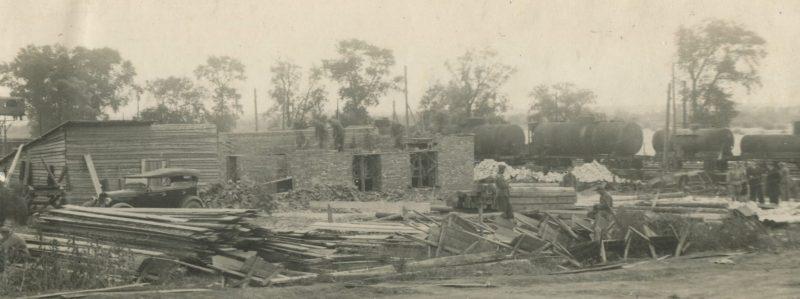 Немцы на строительстве в Саратове. 1947 г.