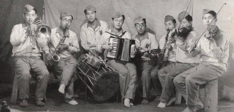 Лагерная самодеятельность в лагере японских военнопленных. 1950 г.
