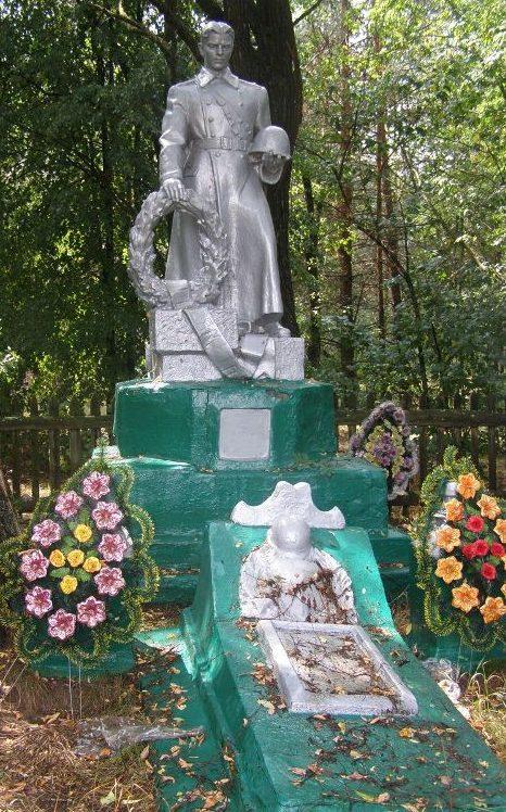 с. Александровка Репкинского р-на. Памятник, установленный в 1958 году на братской могиле, в которой похоронено 27 воинов, погибших при освобождении села и памятный знак погибшим односельчанам.