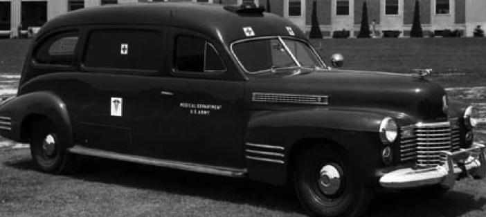 Санитарный фургон на базе Cadillac Series 62. 1940 г.