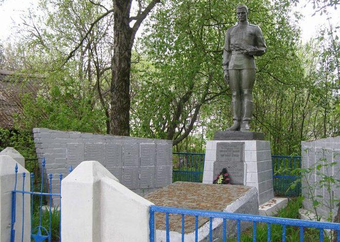 с. Березовка Репкинского р-на. Братская могила воинов, погибших при освобождении села.