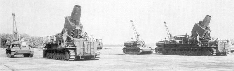 Немецкие тяжелые 600-мм самоходные мортиры «Карл». 1939 г.