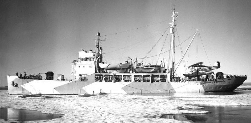 Катера береговой охраны у берегов Гренландии. 1941 г.