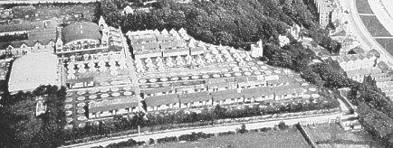 Аэрофотоснимок лагеря Каннингема в 1919 году.