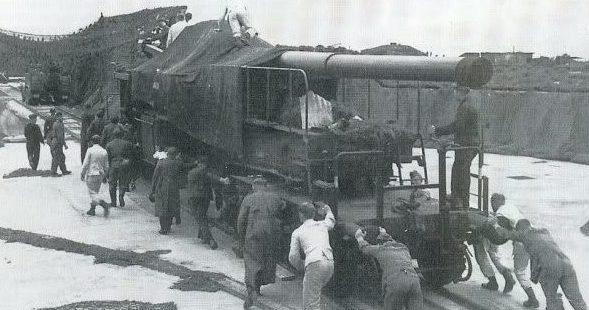 Железнодорожное орудие 20-cm К (Е). 1940 г.