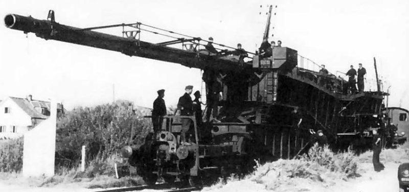 Железнодорожное орудие 21-cm К-12 (Е). 1940 г.