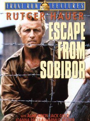 Постер британского фильма «Побег из Собибора».