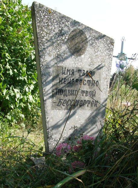 с. Дремайловка Куликовского р-на. Могила неизвестного солдата на кладбище «Гора».