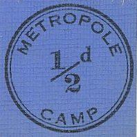 «Монета» полпенса, используемая в лагере интернированных.