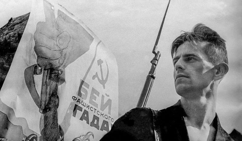 Кавалер ордена Красного Знамени Владимир Трунов - доброволец народного ополчения. Ленинград, июль 1941 г.