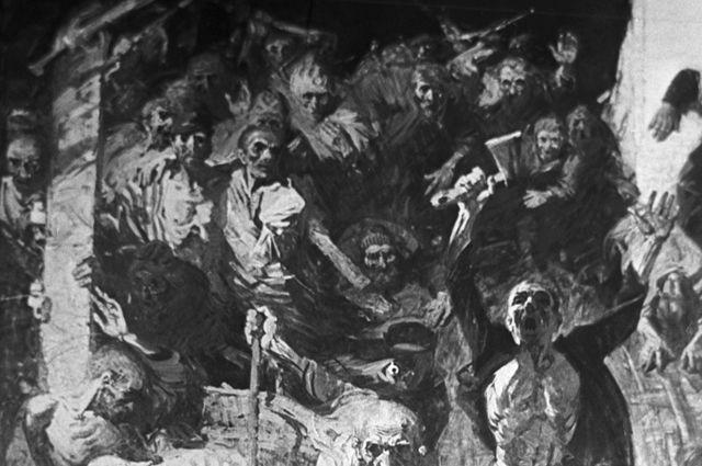 Фрагмент картины «Восстание в Собиборе». Художник И.А. Солдатенков. 1967 г.