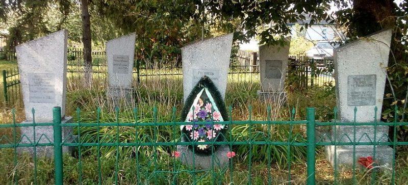 с. Дремайловка Куликовского р-на. Группа могил погибших партизан и солдат.