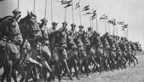 Польские уланы на параде. 1939 г.