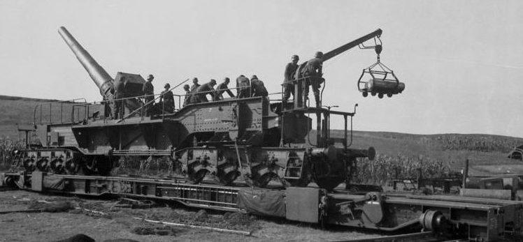 Железнодорожное орудие 24-cm Theodor К (Е). 1940 г.