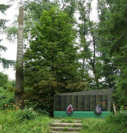 с. Голубичи Репкинского р-на. Памятник погибшим односельчанам, установленный в 1972 году.