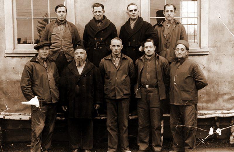 Интернированные итальянцы в лагере Фридирикшен. Канада, 1943 г.