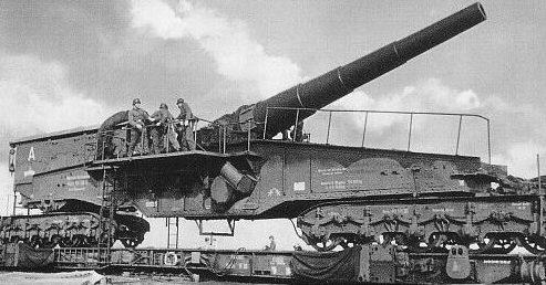 Железнодорожное орудие 28-cm Kurz Bruno К (Е). 1940 г.