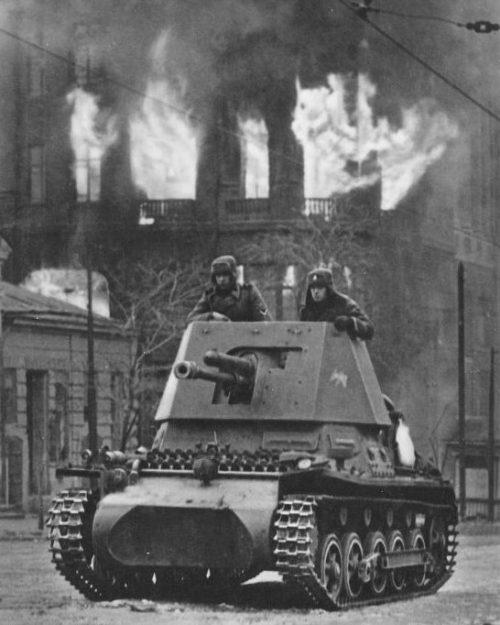 Истребитель танков Panzerjäger I во время боя за Ростов-на-Дону. Ноябрь 1941 г.
