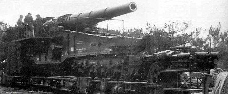 Железнодорожное орудие 28-cm Lang Bruno К (Е). 1940 г.