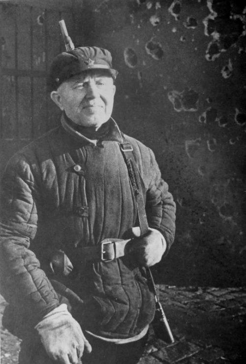 Портрет бойца ленинградского ополчения. 1941 г.
