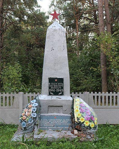 с. Горностаевка Репкинского р-на. Братская могила 43 советских воинов, погибших при освобождении села в 1943 году.