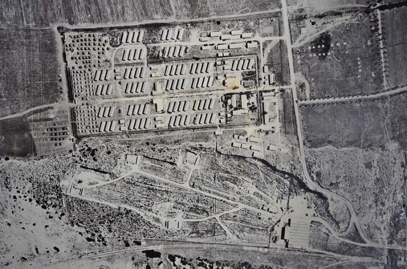 Аэрофотосьемка лагеря в Атлите. 1939 г.