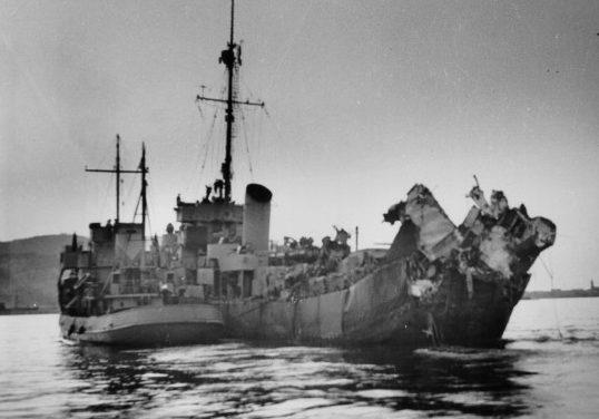Эсминец береговой охраны «Menges». 1944 г.