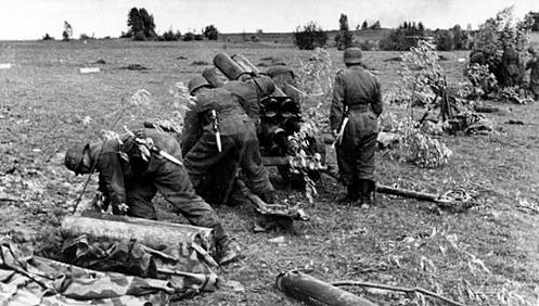 Расчет Nebelwerfer» в окрестностях города Лепель. Июль 1941 г.