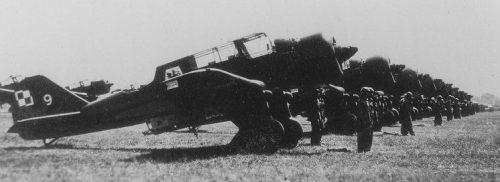 Легкие польские бомбардировщики «Карась». 1939 г.