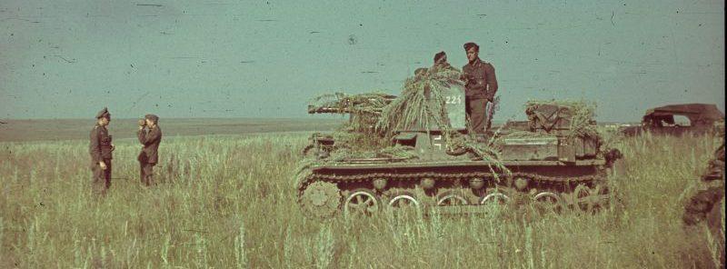 САУ Panzerjäger I в поле на западе Украины. 1941 г.