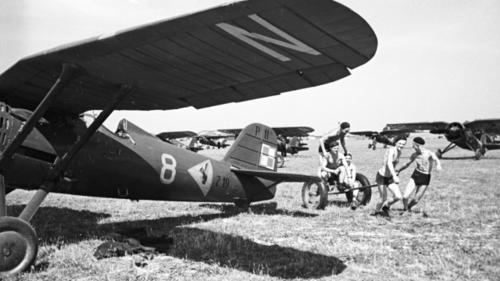 Польский истребитель П-11. 1939 г.