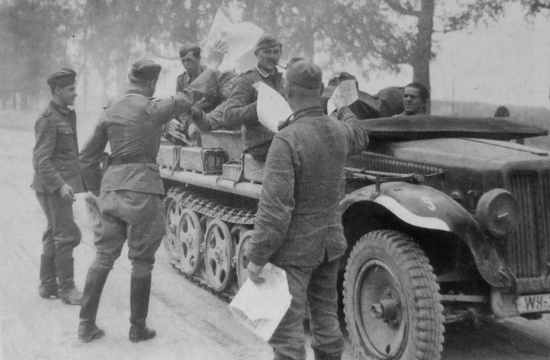 Тягач Sd. Kfz. 10 на Восточном фронте. 1941 г.