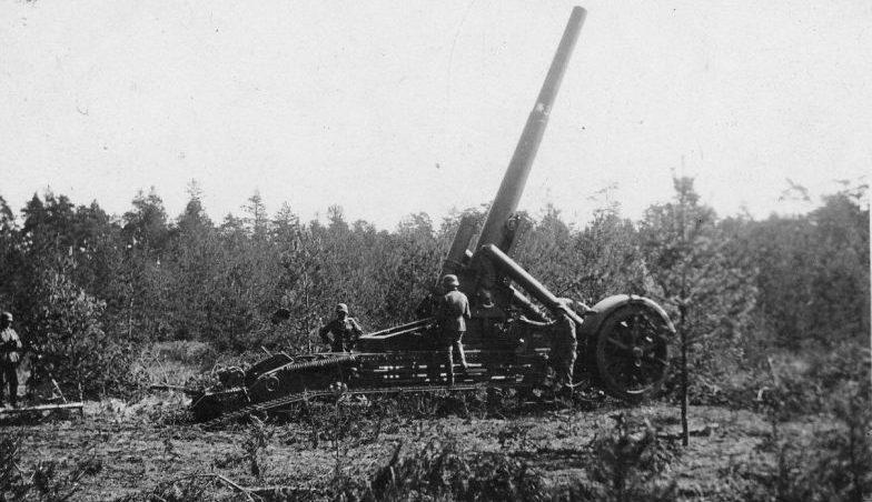 210-мм тяжелая мортира на Восточном фронте. 1941 г.