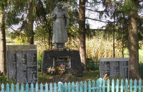 с. Липовое Талалаевского р-на. Памятник, установленный на братской могиле воинов, погибших при освобождении села и памятный знак погибшим односельчанам.