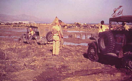Аэродром Термини Имерезе, недалеко от Палермо, после ливня. Лето 1943 г.