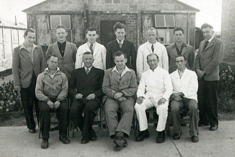 Группа военнопленных в лагере «Эдем» 1948 г.