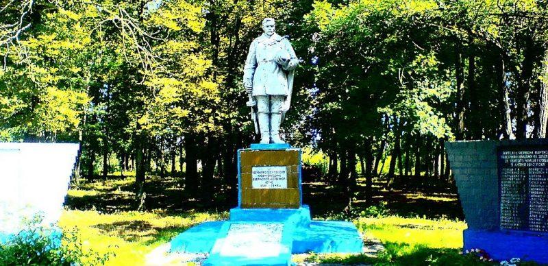 с. Володькова Девица (Красные Партизаны) Носовского р-на. Братская могила 50 советских воинов, погибших в годы войны.
