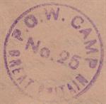 Почтовый штамп лагеря №25.