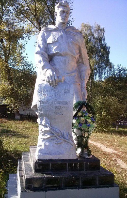с. Ведильцы Черниговского р-на. Памятник, установленный в 1957 году на братской могиле воинов, погибших при освобождении села.