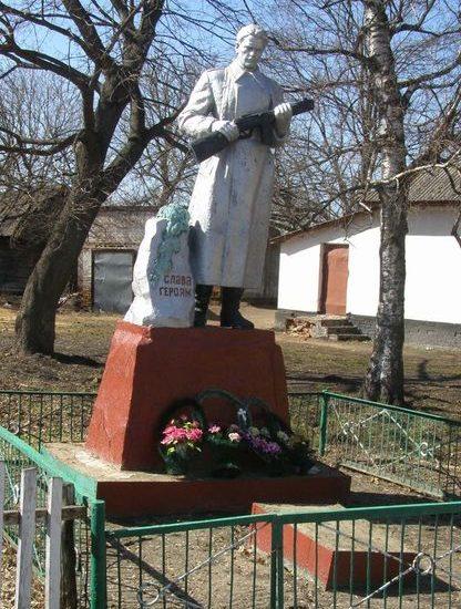 с. Селище Носовского р-на. Памятник, установленный в 1958 году на братской могиле, в которой похоронено 5 воинов, погибших при освобождении села.
