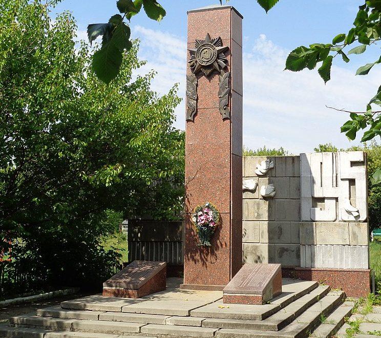 с. Софиевка Носовского р-на. Памятник, установленный на братской могиле, в которой похоронено 5 советских воинов, погибших при освобождении села в сентябре 1943 года и памятный знак 103 воинам-односельчанам, погибшим в годы войны.