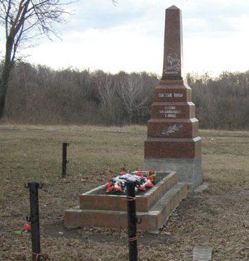 с. Боршна Прилуцкого р-на. Братская могила воинов, погибших при освобождении села.