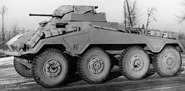 Тяжелый бронеавтомобиль. Sd.Kfz.234/1. 1943 г.