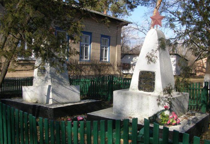 п. Малая Девица Прилуцкого р-на. Братские могилы воинов, погибших в боях за село.
