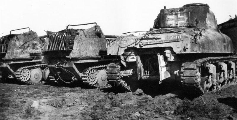 САУ Marder III, захваченные американцами в Италии. 1944 г.