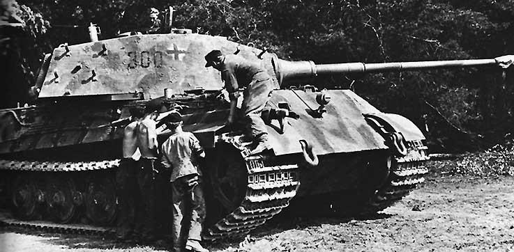 Тяжелый танк Panzerkampfwagen VI Ausf. B Tiger II. 1944 г.