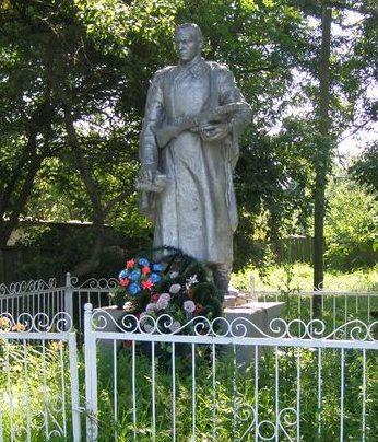 с. Мнёв Черниговского р-на. Братская могила воинов, погибших при освобождении села.