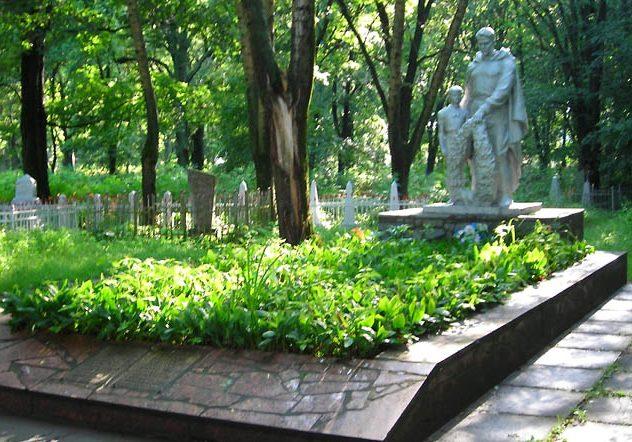 г. Прилуки. Памятник на городском кладбище, установленный на братской могиле советских воинов.