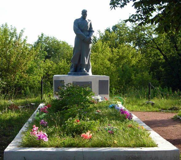 г. Прилуки. Памятник на 2 городском кладбище, установленный в 1962 году на братской могила советских воинов, умерших от ран в военных госпиталях.