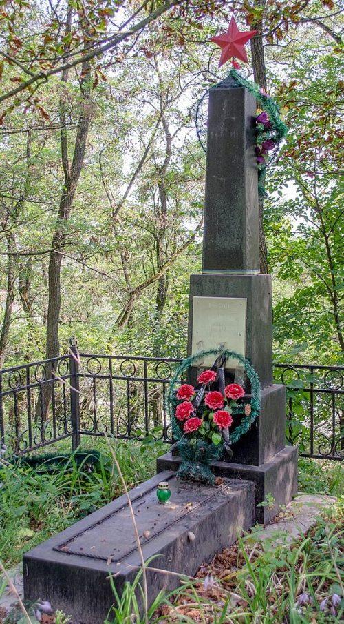 с. Новоселовка Черниговского р-на. Братская могила 2 советских воинов, погибших при освобождении села.